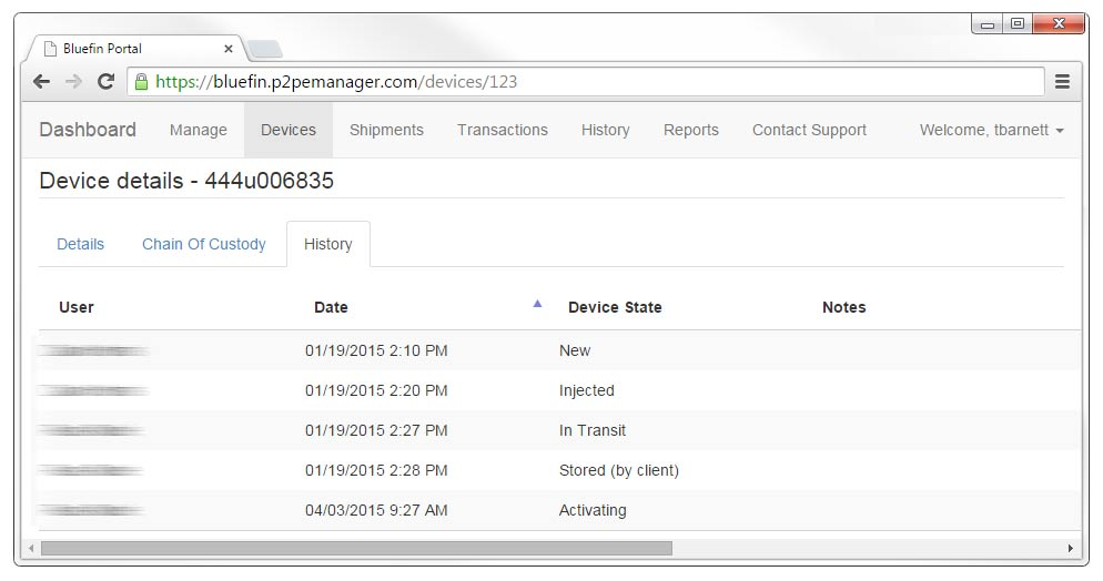 P2PE Manager Device Details