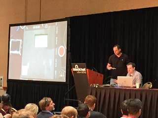 NCR researchers hacking a POS at Black Hat 2016.