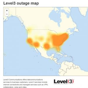 Level 3 Outage Map