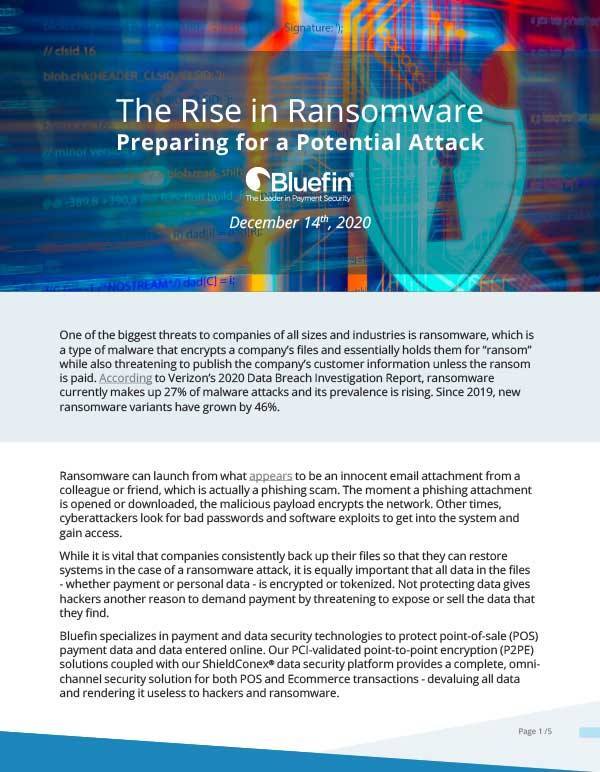 The Rise in Ransomware